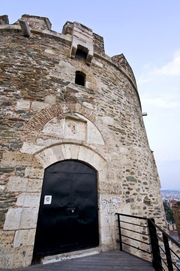 Alte byzantinische Festung in Griechenland stockbilder