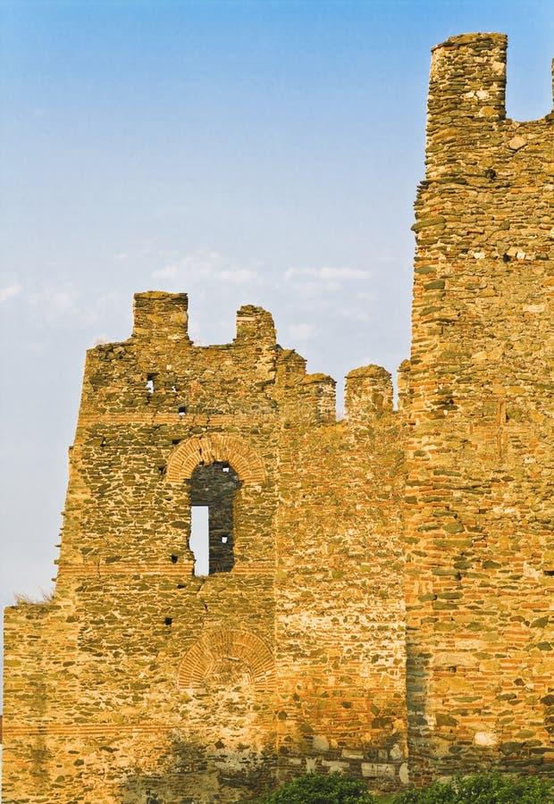Alte byzantinische Wände in Griechenland stockfotos