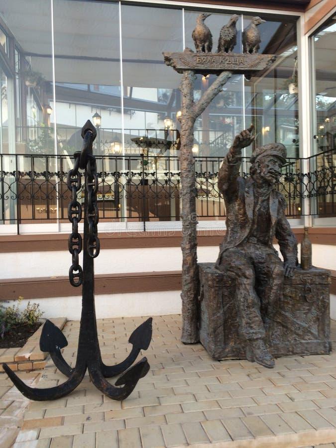 Alte capitan Statue lizenzfreies stockbild