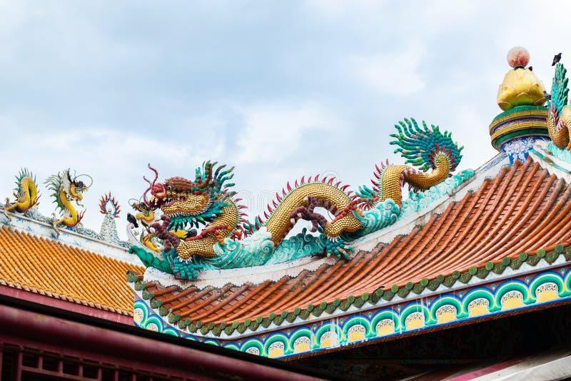 Alte chinesische Gebäudeart bei Dragon Descendants Meseum stockbilder