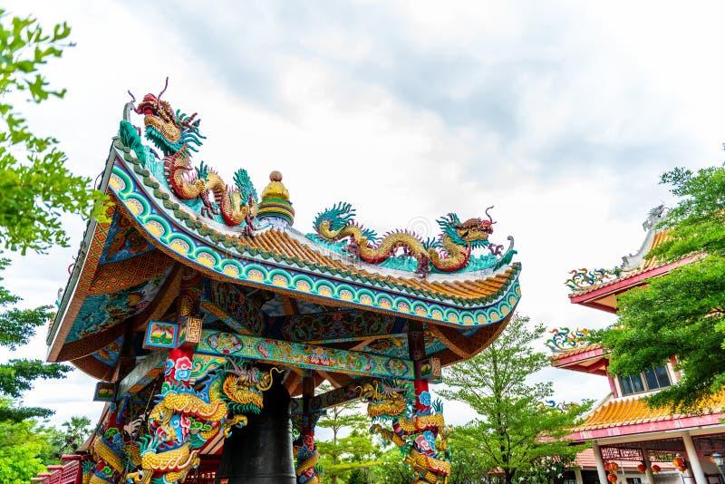 Alte chinesische Gebäudeart bei Dragon Descendants Meseum stockfotografie