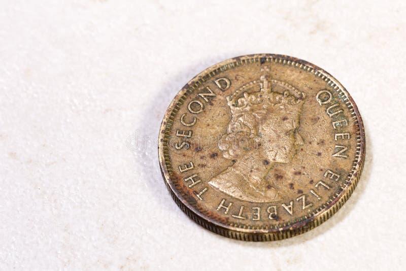 Alte chinesische Münze lizenzfreie stockfotos
