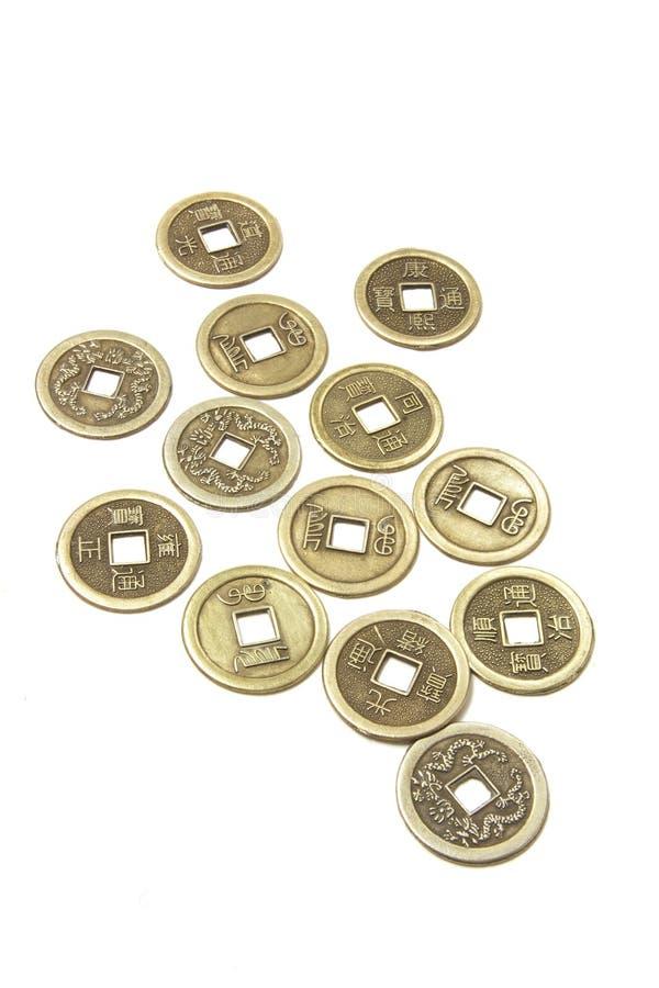 Alte chinesische Münzen lizenzfreies stockbild