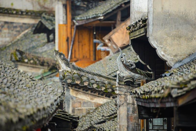Alte chinesische rooves lizenzfreie stockbilder
