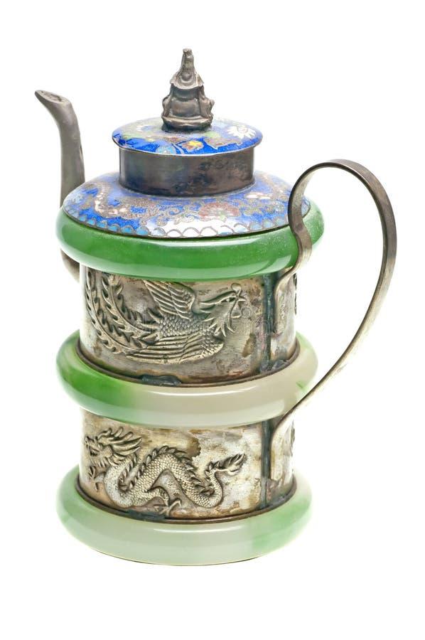 Alte chinesische Teekanne stockbild