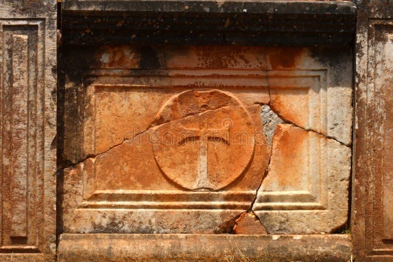Alte Christruinen in Delphi stockfotos
