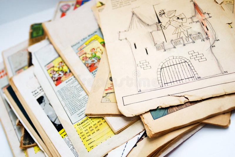 Alte Comic-Bücher lizenzfreies stockfoto