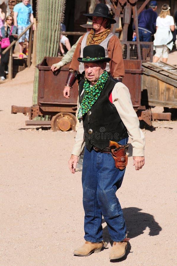 Alte Cowboy-Revolverhelder stockfoto