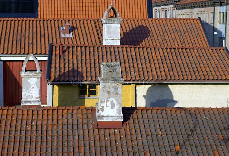 Alte Dachspitzen stockfotografie