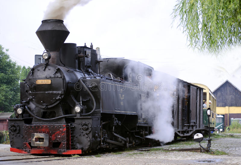 Alte Dampf-Lokomotive stockfotos