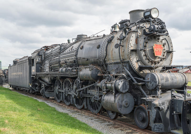 Alte Dampflokomotive stockfotos
