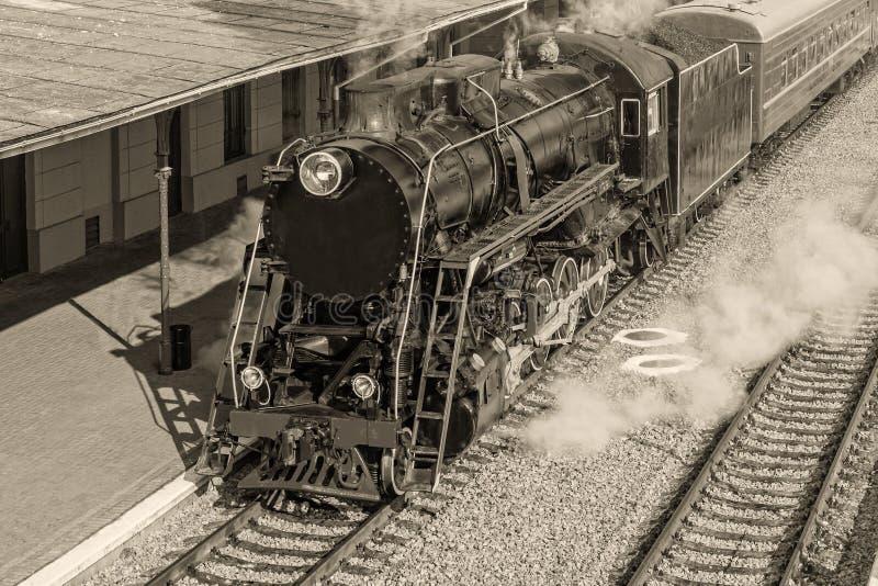 Alte Dampflokomotive lizenzfreie stockfotografie