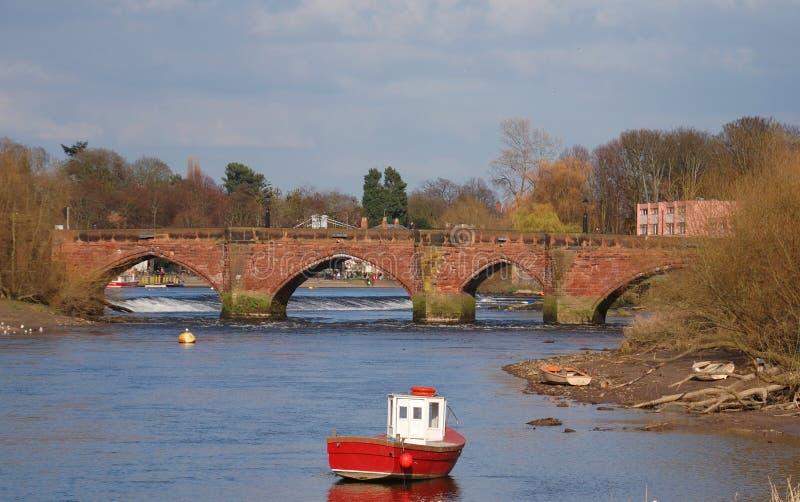 Alte Dee Brücke stockbilder