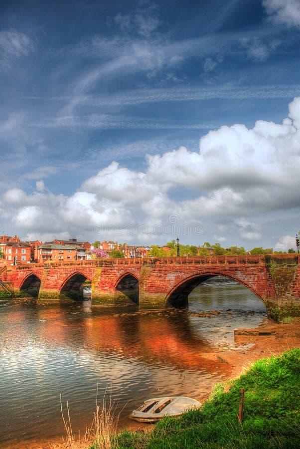 Alte Dee Brücke Chester stockbild