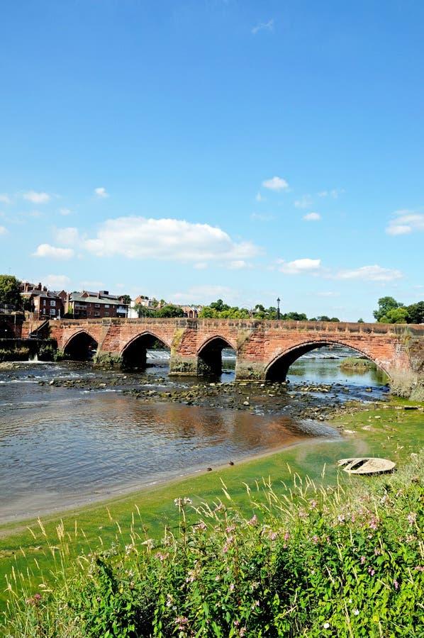 Alte Dee Bridge, Chester lizenzfreies stockbild