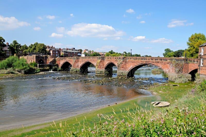 Alte Dee Bridge, Chester lizenzfreies stockfoto