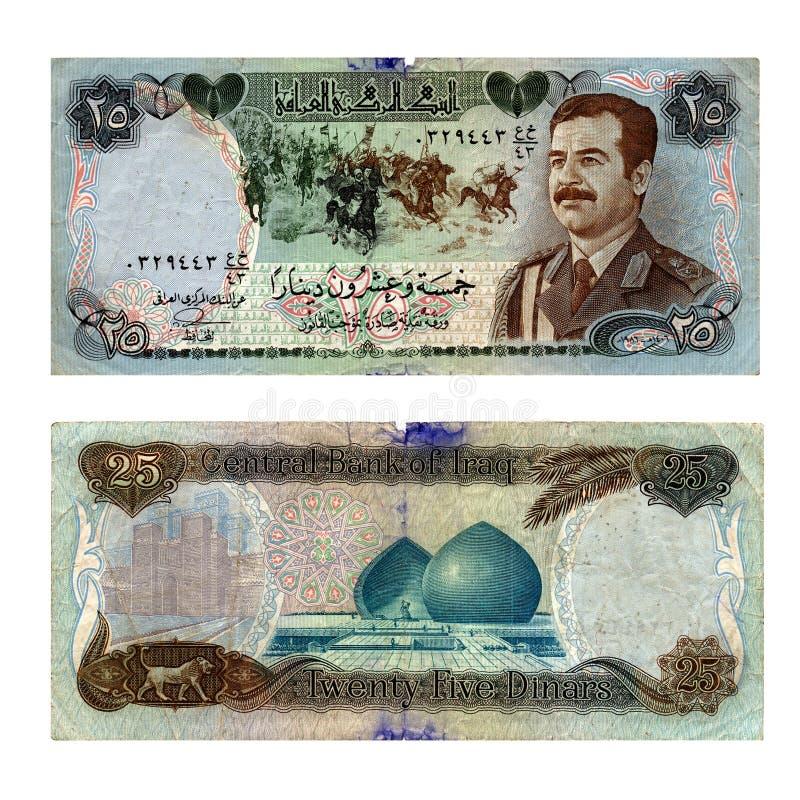 Alte der Irak-Banknote stockbild