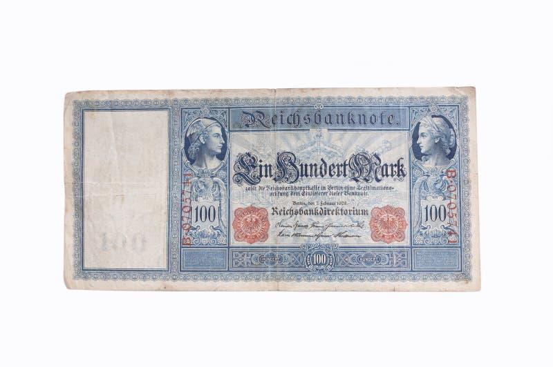 Alte deutsche Banknote stockfotografie