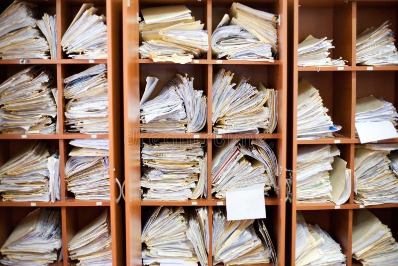 Alte Dokumente lizenzfreie stockbilder