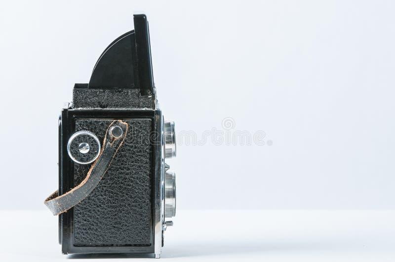 Download Alte Doppelreflexkamera stockbild. Bild von leerzeichen - 27733299