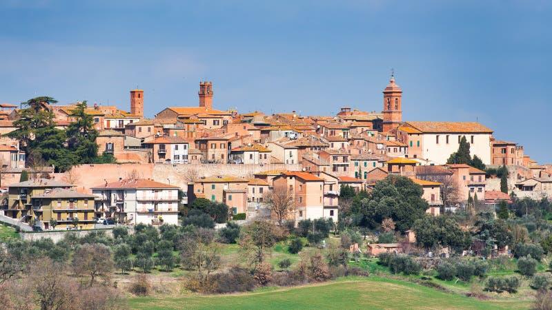 Alte Dorf Torrita-Di Siena in Toskana Italien stockfotografie