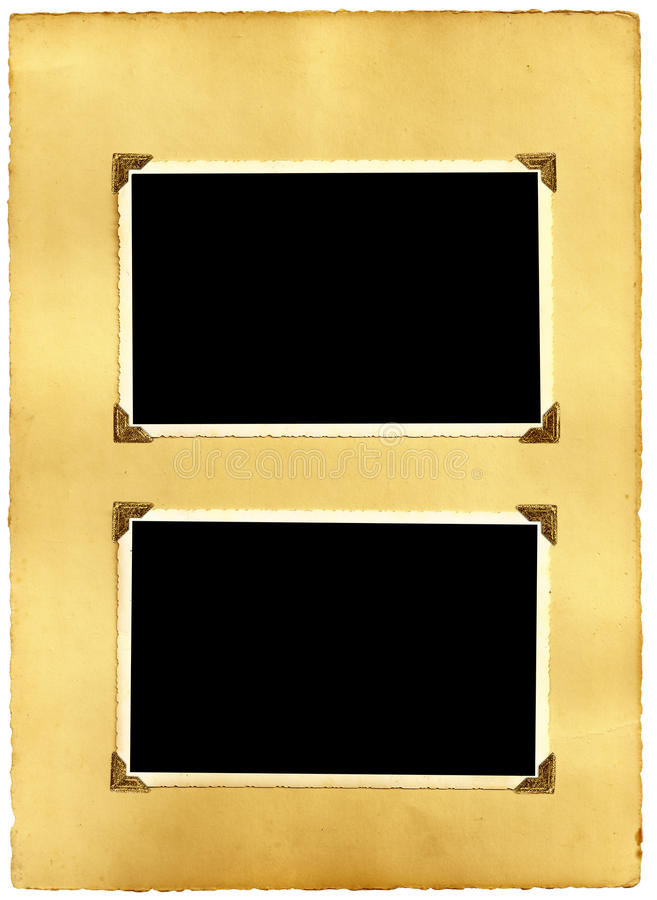Alte eingehangene Fotographien stockbild