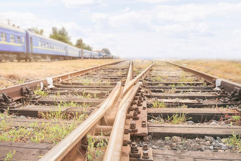 Alte Eisenbahnlinien stockfotos