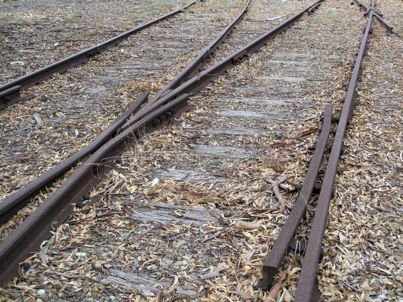 Alte Eisenbahnlinien lizenzfreie stockbilder