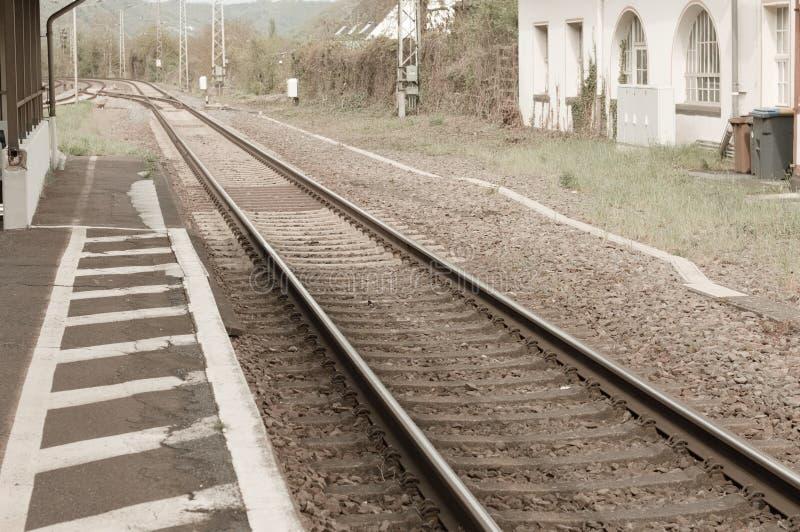 Alte Eisenbahnlinien in Deutschland stockfotos