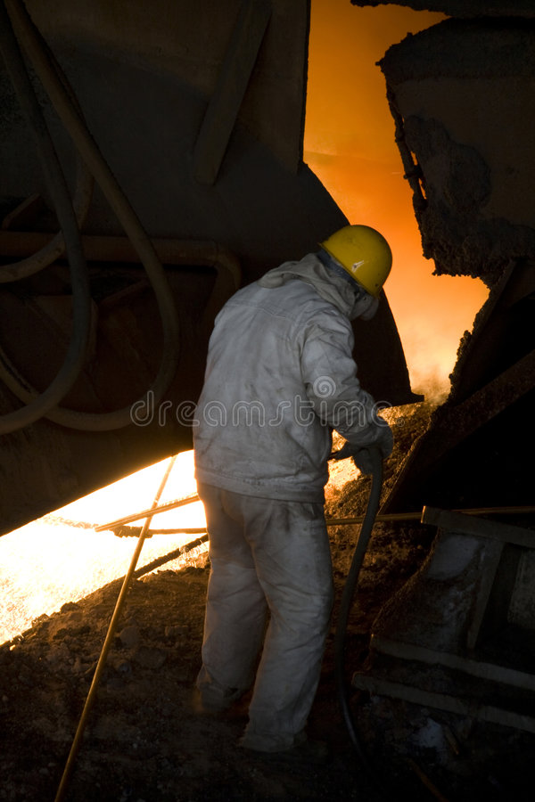 alte Eisenfabrik stockbild