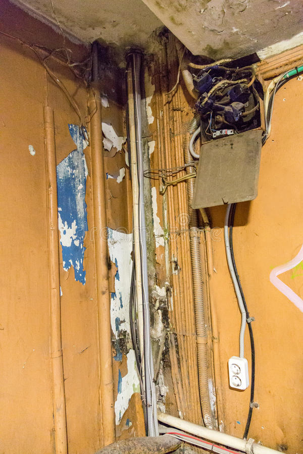 Alte Elektrische Verdrahtung Stockfoto - Bild von elektrik ...