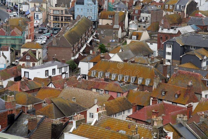 Alte englische Stadt. lizenzfreies stockfoto