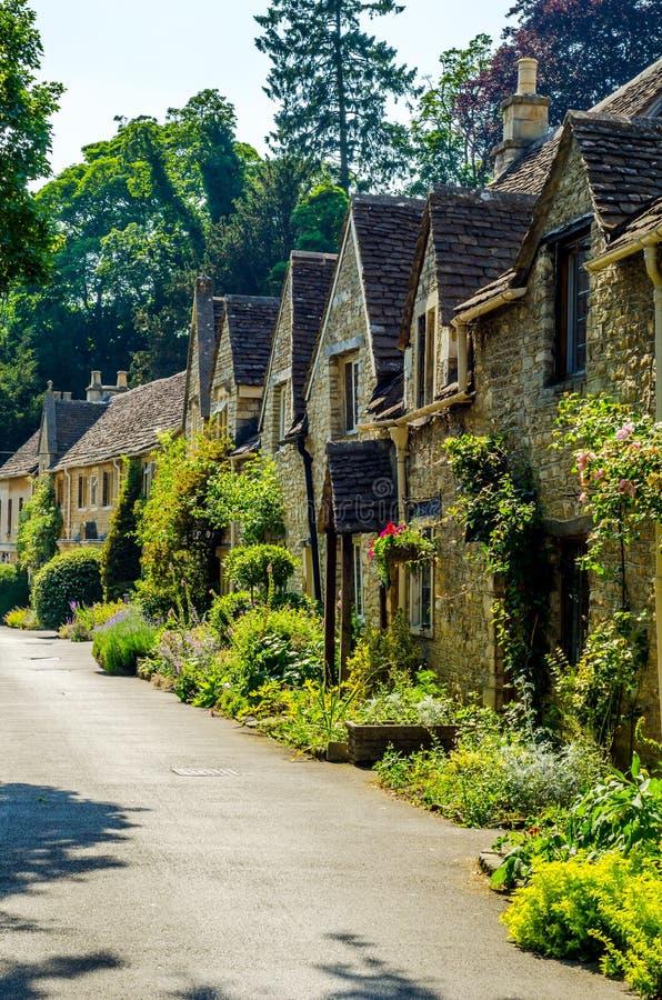 Alte englische Stadt und schöne historische Gebäude, alte Straße, h stockfotos