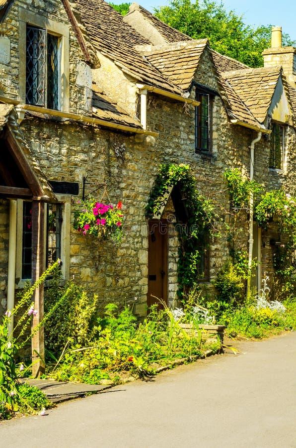 Alte englische Stadt und schöne historische Gebäude, alte Straße, h stockbild