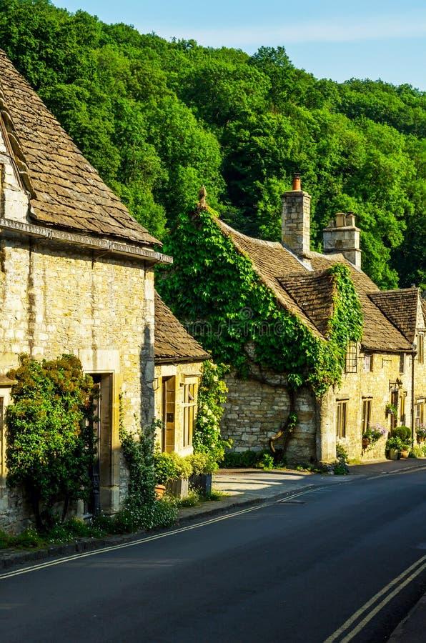 Alte englische Stadt und schöne historische Gebäude, alte Straße, h stockfoto