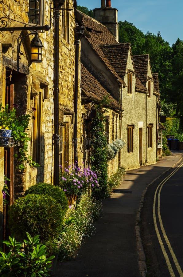 Alte englische Stadt und schöne historische Gebäude, alte Straße, h stockfotografie