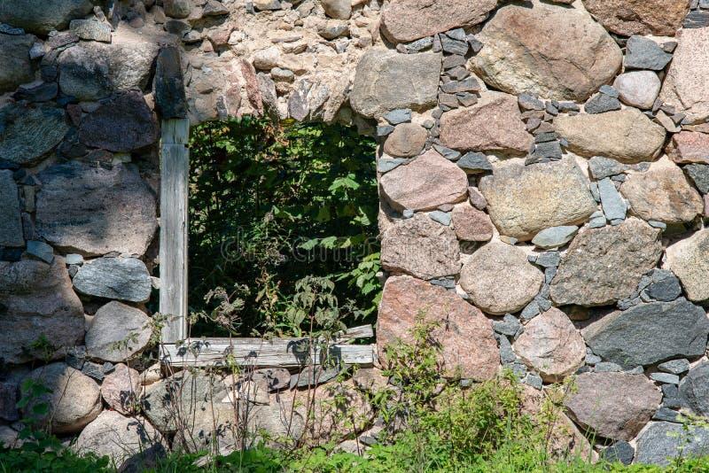 alte errichtende Schlosssteindetails stockfotos
