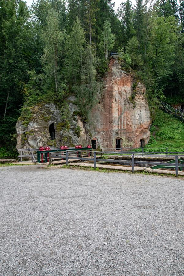 alte errichtende Schlosssteindetails stockbild