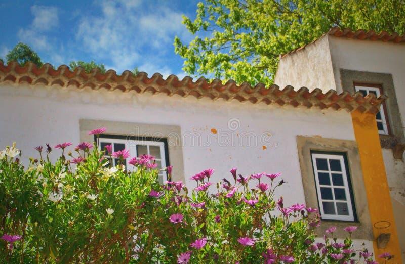 Alte europäische Häuser stockfotos