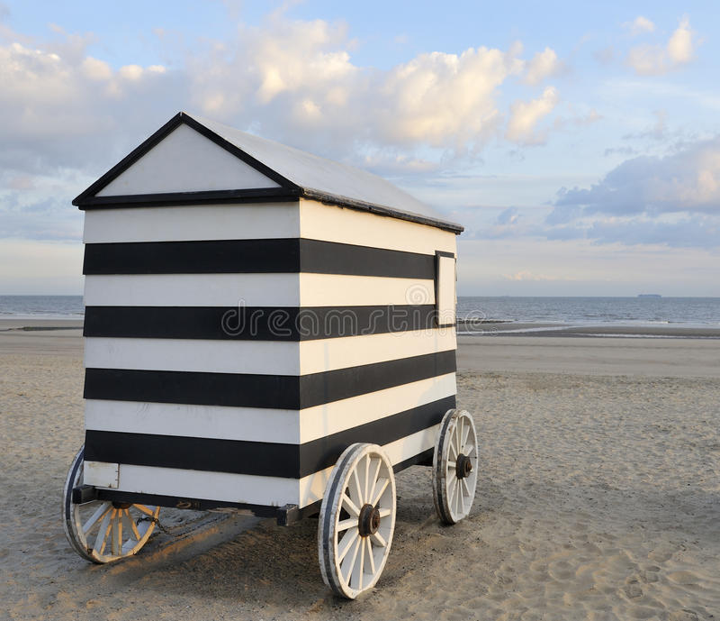 Alte fahrbare badenhütte stockfoto