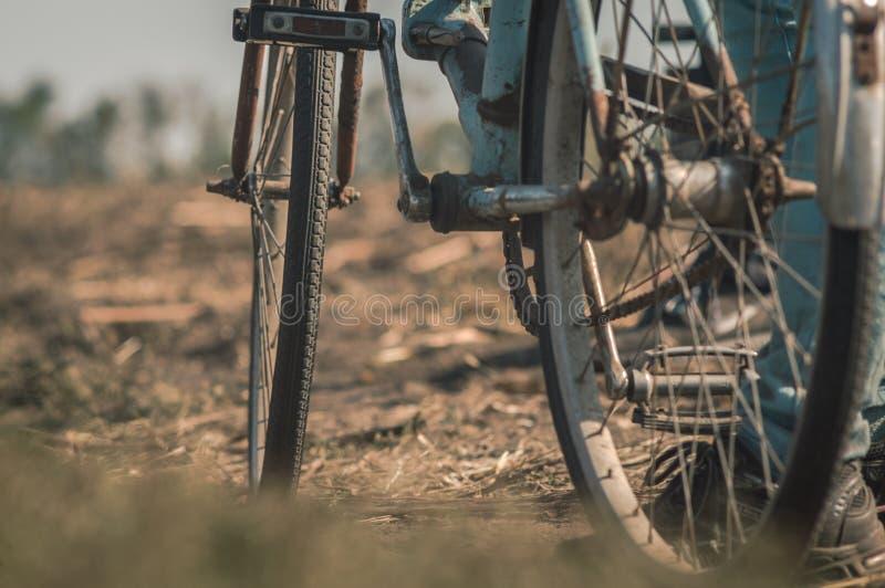 Alte Fahrradnahaufnahme lizenzfreie stockfotos