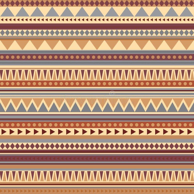 Alte Farben des aztekischen nahtlosen Musters vektor abbildung