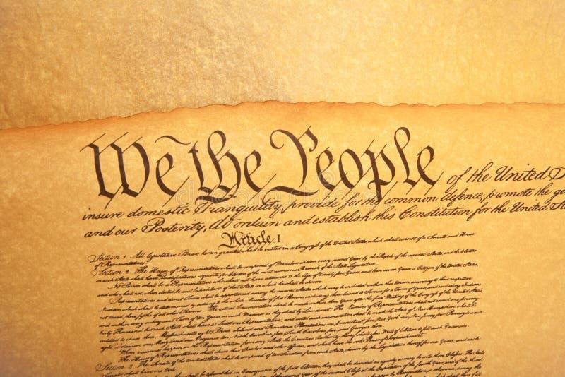 Alte fashionet Amerikaner-Konstitution stockbilder