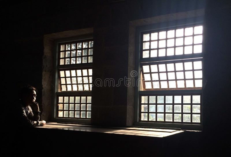 Alte Fenster Sagada stockbilder