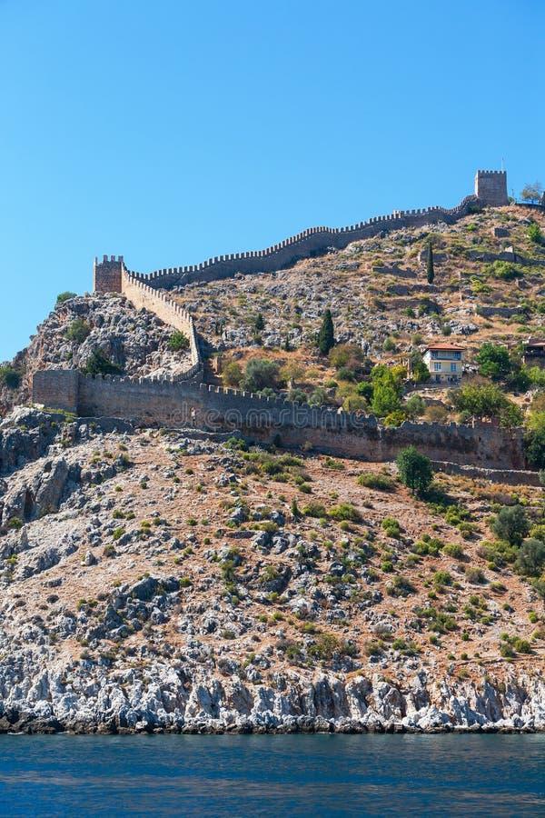 Alte Festung auf der Küste lizenzfreie stockfotos