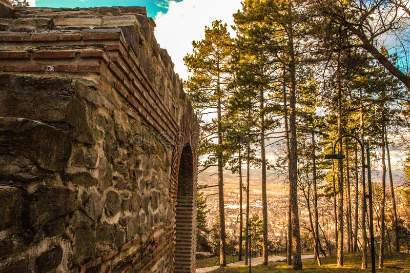 Alte Festung Pautalia stockbild