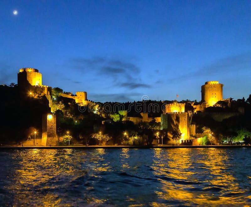 Alte Festung Rumelihisar in Istanbul, die Türkei lizenzfreie stockbilder