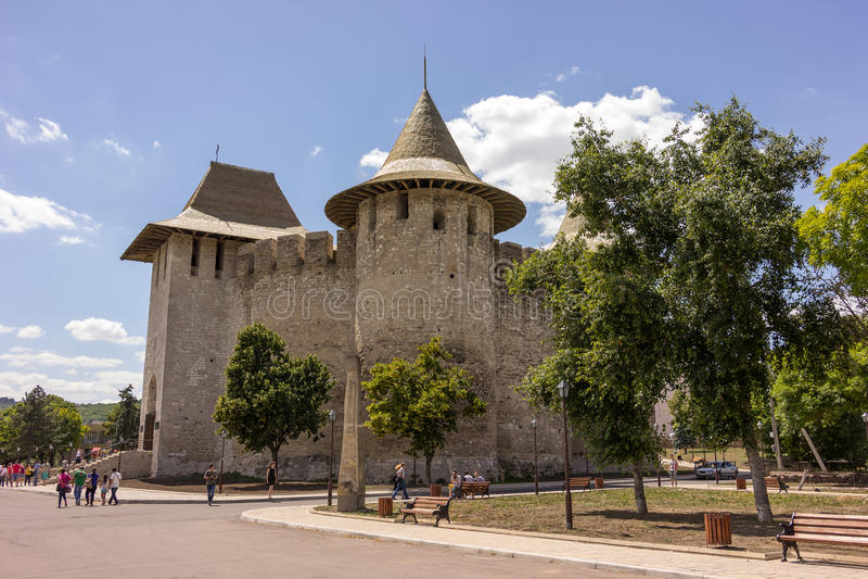 Alte Festung in Soroca, Nistru-Fluss, Moldau stockfotografie