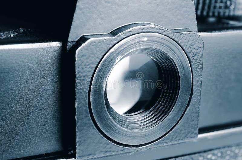Alte Filmkamera des Okulars lizenzfreies stockfoto