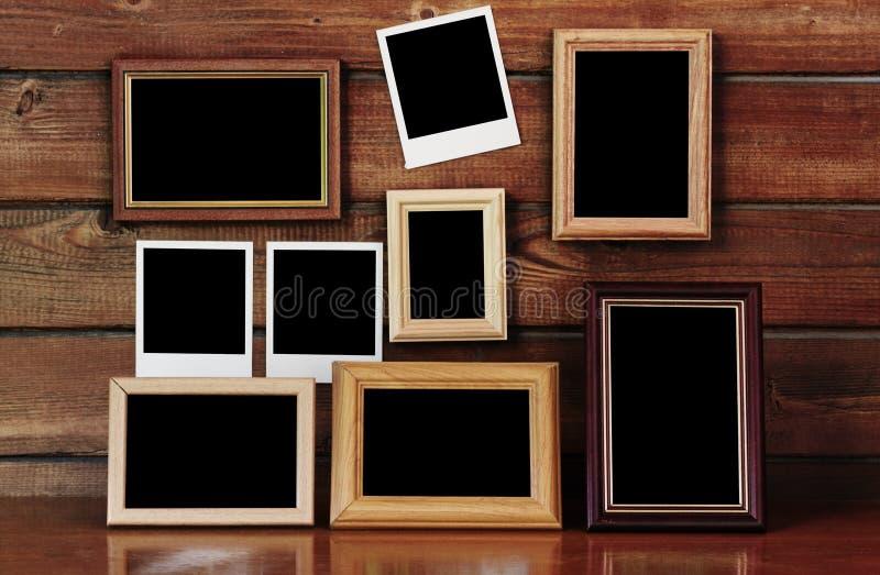 Alte Fotofelder stockfotografie
